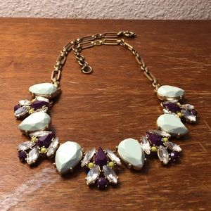 J. Crew purple and teal necklace